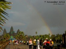 Angkor Wat rainbow