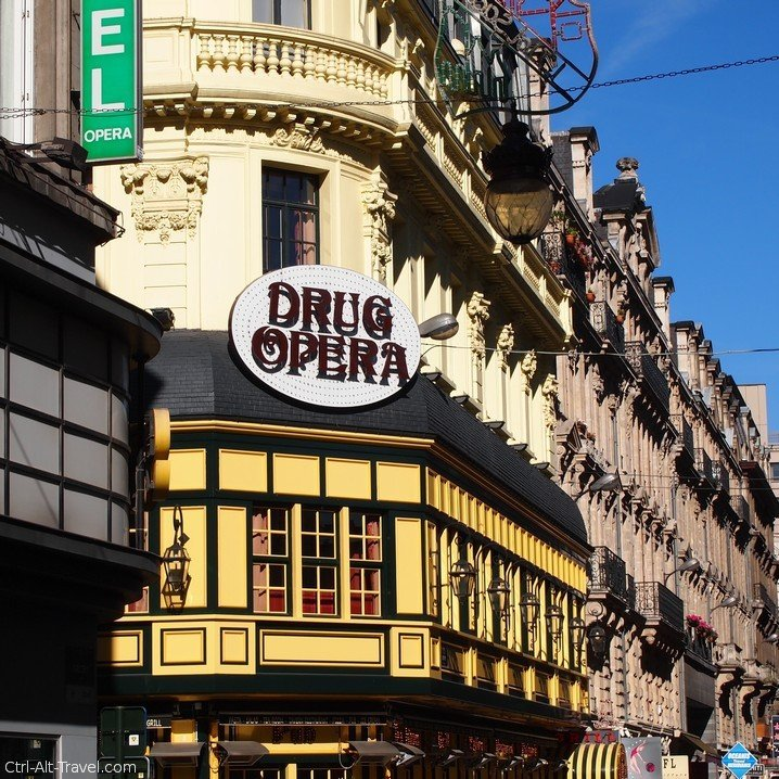 Drug Opera Building in Brussels