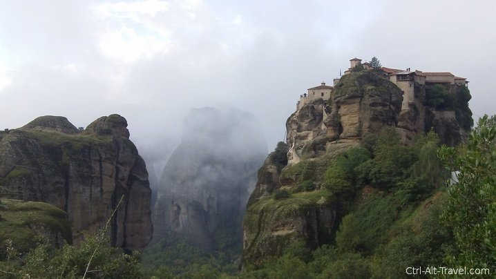 Meteora Monastery on a Rock Spire