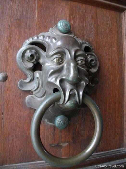 Weird door knocker in Bamberg Germany