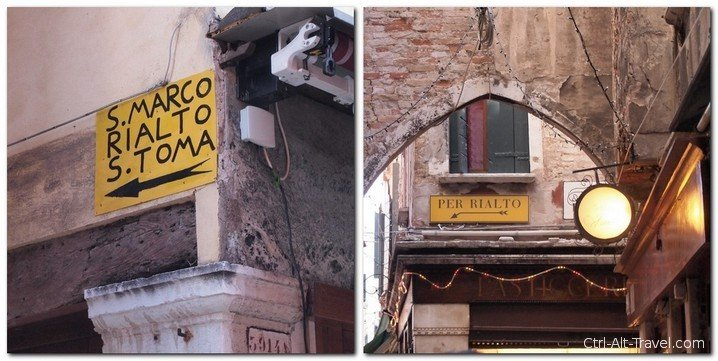 Direction Signs in Venice