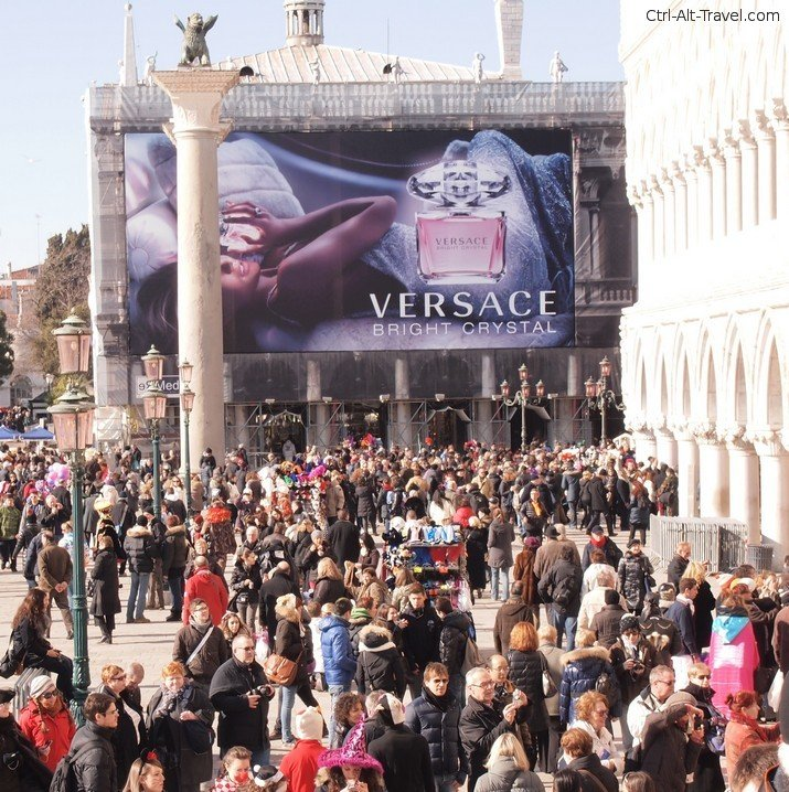 Versace Ad in St Marks Venice