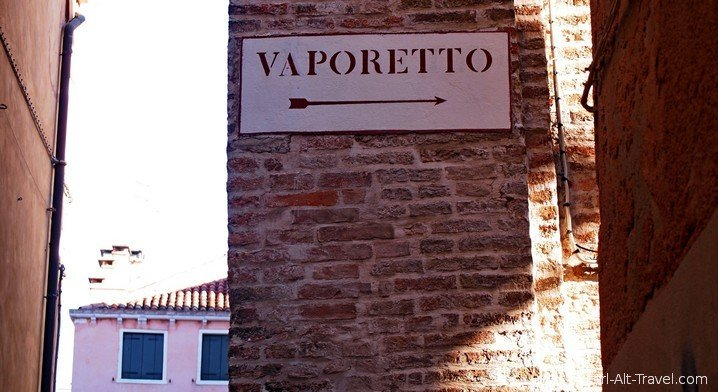 Vaporetto Sign Venice