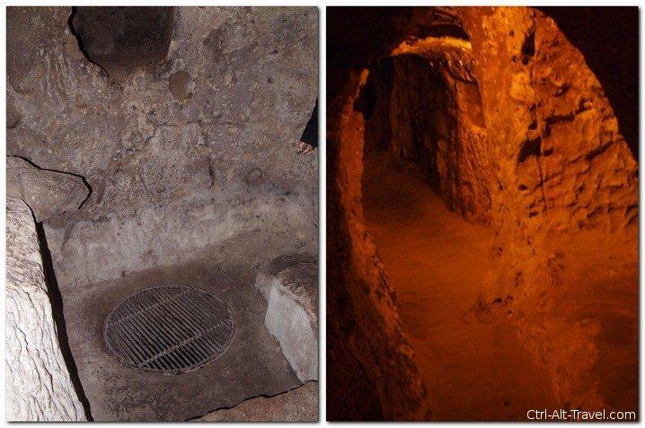 flash versus candlelight setting underground