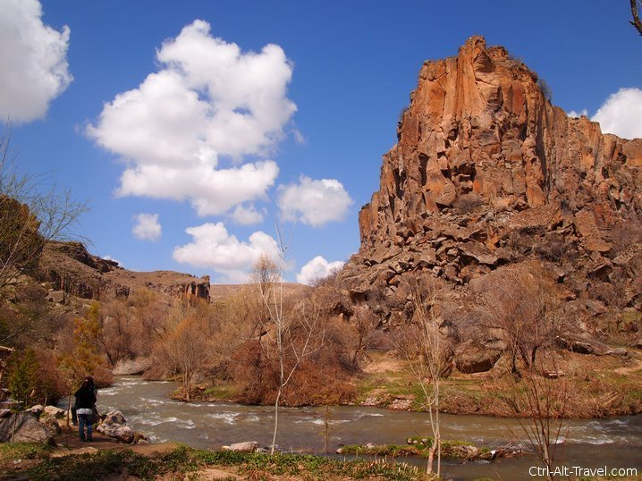 Rock formations in the Ihlara Valley