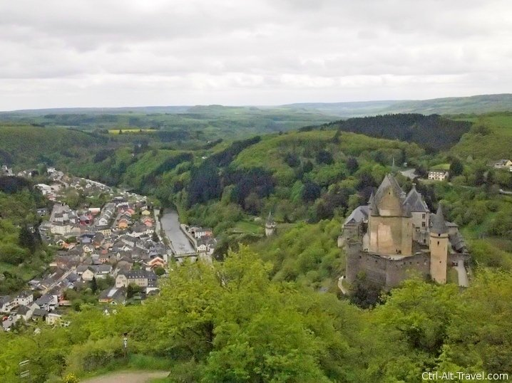 Vianden Castle and Flying Chairs